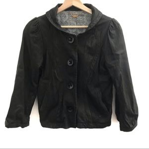 Doma Black Soft Leather Jacket Lined Size Small